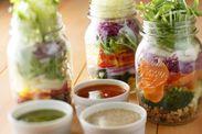 レインボー野菜のジャートスサラダ