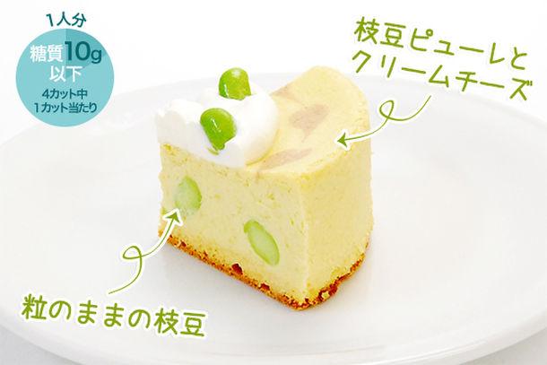 枝豆チーズケーキ カット 1