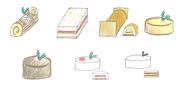 7種のケーキイメージ