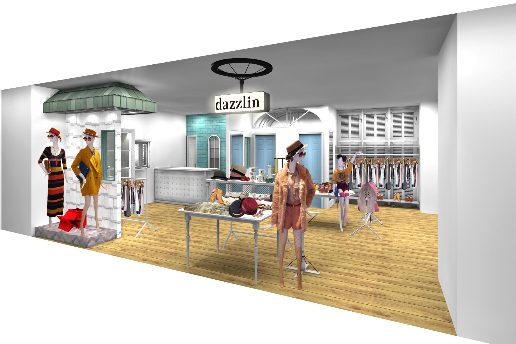 43b6d26bd5e721 マークスタイラー、アメリカンスウィートカジュアルブランド「dazzlin」「dazzlin moi」全5店舗を新規出店