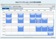 Webブラウザによる1日の作業内容確認
