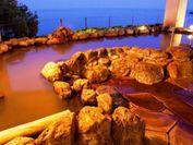 有明海を一望するパノラマ景色に感動♪海の見える掛け流し天空★展望温泉♪