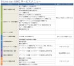 B-Link start!BYOサービスメニュー