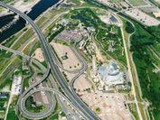 世界淡水魚園「オアシスパーク」の属する河川環境楽園航空写真