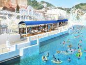 「ジョイアマーレの浜辺」横に新設する「エキサイティングシート」(260名規模/有料スペース)※イメージ画像