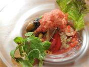 氷リゾット ~9種の夏野菜とグリルチキンのスープ仕立て~