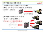 SMTP認証による攻撃の手口