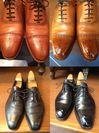 靴磨き前と後