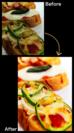 料理写真をおいしく加工してブログに投稿