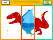 恐竜をシャッフル