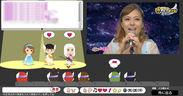 アバターコミュニティ「ふぁんぷらぷら」の仮想イベントホールの画面イメージ