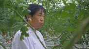 見せます!いわき CM画像3 自ら農作物の味を確認するシェフ 奥田政行さん