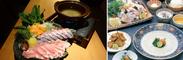 宴会コースや鍋の一例