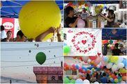 夏祭りに参加し、被災地の子ども達から「願い」を受け取った。