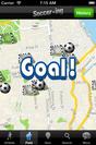 「サッカー・イング」ユーザーインターフェース