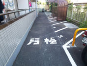 ライン型バイク駐車場