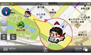 """""""山本さん""""のイラストを使った自車位置アイコン"""