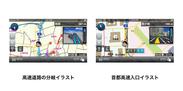 高速道路の分岐イラスト(左)と首都高速入口イラスト