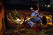 【(c)1986 二馬力・G】メイン展示「天空の城ラピュタ」の場面