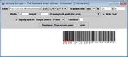 1.標準料金代理収納用コンビニバーコードの出力例