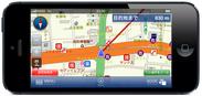 iPhone向け本格カーナビアプリ「マップルナビS バージョン1.2.0」