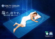 塩の力で冷やす、新素材・快適クールマット『SALTY COOLER』