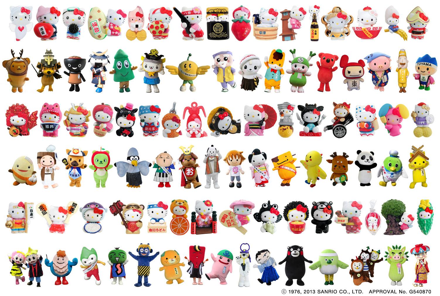 世界初!ご当地キティちゃんグッズ 47都道府県コンプリートセットをプレゼント!日本旅行 夏旅キャンペーン「お国巡りリレー」を実施