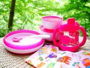 子どもにとっての使いやすさを追求したユニバーサルデザインの食器だからお食事も安心。