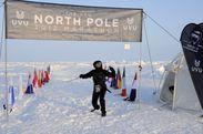 北極点マラソン ゴールの瞬間