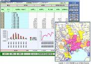 サンプル:顧客分析システム 分析画面