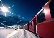 冬のスイス ベルニナ急行