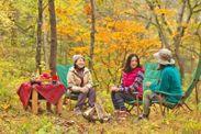 森でくつろぐたき火カフェ