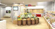 """食料品などの福島県産品販売コーナーと、""""福島のいまを伝える""""写真ギャラリーを併設"""
