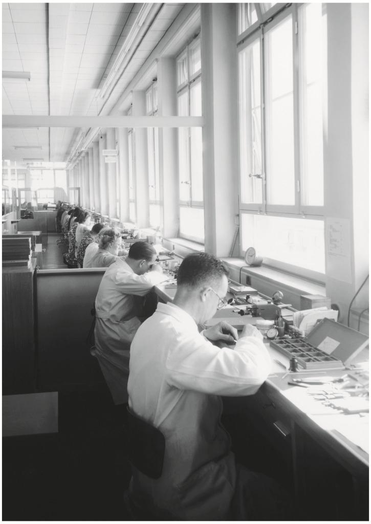 ジラール・ペルゴの工房の様子(1950年頃)