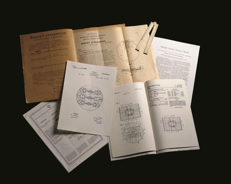 ジラール・ペルゴの特許書類の数々