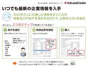 「HotLeadCreator」にデータ購入機能「GLUE DB」を標準搭載