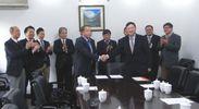華東師範大学 中日職業教育研究センター開設調印式