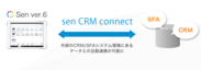 senとCRM/SFAとのデータ連携が可能に