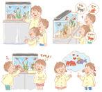 幼稚園での水槽設置イメージ