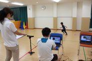 Microsoft社Kinectセンサーを使った運動測定も実施