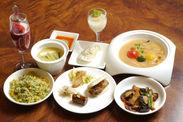 いわき野菜だけの中華フルコース料理