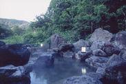 明け方の岩間野天風呂