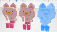 3Dエディターの複製機能例