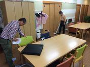 介護施設の清掃業務の様子