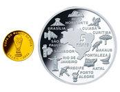 ブラジル金・銀貨デザイン