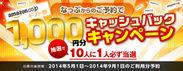 第2弾キャンペーン:Amazon1,000円分キャッシュバックキャンペーン!