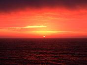 有明海を照らす朝日の絶景