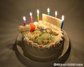 ケーキ点火写真