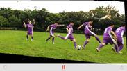 変換後の動画のスクリーンショット(サッカー)