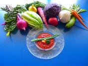 新鮮な三浦野菜を使用した回復食